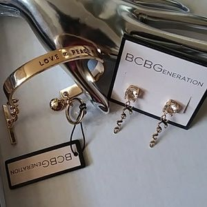 BCBGeneration Love Bracelet & Earring Set